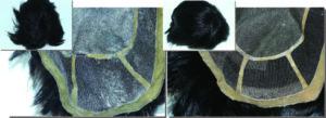 全体的な増毛・ネットの穴補修、ベースほつれ修理